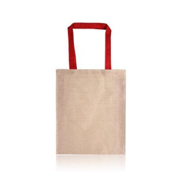 Two Tone Juco Tote Bag Tote Bag / Non-Woven Bag Bags Best Deals Eco Friendly TNW1027_RedThumb[1]